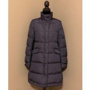 UNIQLO Women's Blue Long Hooded Down Coat Size M